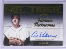 2016 Leaf Famous Nicknames Mr. Tiger Al Kaline autograph auto #D7/10 *55909