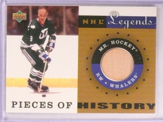 2001-02 Upper Deck Legends Pieces Of History Gordie Howe stick #PH-MH *67481