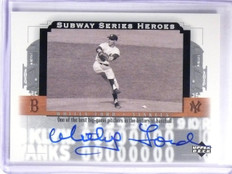 2001 Upper Deck Subway Heroes Whitey Ford autograph auto #D90/450 #KY-SS2 *58501