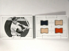 2015 National Tresures Legends Gil Hodges quad jersey bat book #D09/10 *52149