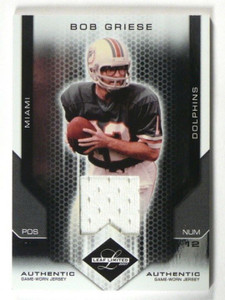 2007 Leaf Limited Bob Griese jersey #D53/100 #106 *40186