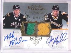 2007-08 OPC Premier Mike Modano & Mullen autograph jersey #D02/50 *67453