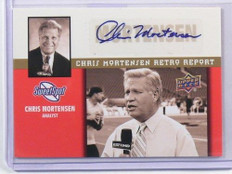 2011 Upper Deck Sweet Spot Chris Mortensen Report auto autograph #MR-25 sp! *399