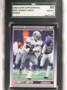 1990 Score Supplemental Emmitt Smith rc rookie #101T SGC 88 = 8 *67414