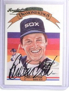 2004 Donruss Recollection 20th Diamond Kings Carlton Fisk autograph #D4/4 *58442