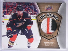 2016-17 Upper Deck UD Game Patch Ryan Kesler 3clr Patch #D10/15 #GJRK *65218