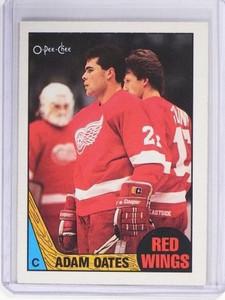 1987-88 O-Pee-Chee Adam Oates Rookie RC #123 *49618