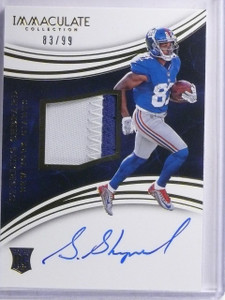 2016 Immaculate Sterling Sheppard Rookie Patch Autograph #D83/99 #128 *65215