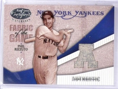 2004 Leaf Certified Fabric of the Game Phil Rizzuto Jersey #D070/100 #FG93  *611