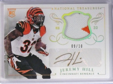 2014 National Treasures Jeremy Hill autograph auto patch rc #D09/10 #JH1 *49406