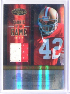 2012 Certified Fabric of The Game Ronnie Lott prime 2clr patch #D37/49 *38115