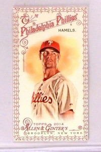 2014 Topps Allen and Ginter Mini Red  Cole Hamels #d21/33 #145 *45995