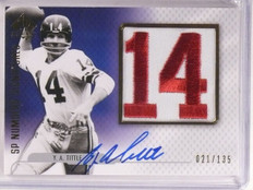 2008 Sp Authentic Numbers Signatures Y.A. Tittle autograph auto #D21/135 *67516