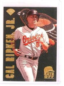 1996 Leaf Cal Ripken Jr. Jr Hats Off #d1253/5000 Orioles *45941