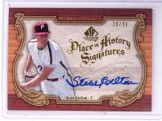 2006 UD Legendary Cuts Place History Steve Carlton Autograph Auto #D39/99 *49068