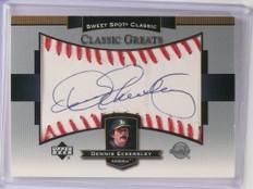 2003 Sweet Spot Classic Greats Dennis Eckersley autograph auto  *48950