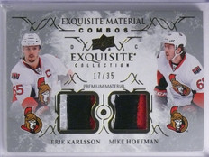 2016-17 Exquisite Collection Hoffman Erik Karlsson Patch #D17/35 #EC-HK *65273