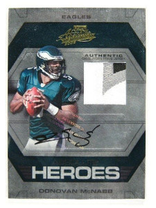 2008 Playoff Absolute Heroes Donovan Mcnabb auto autograph patch #D4/5 *30238