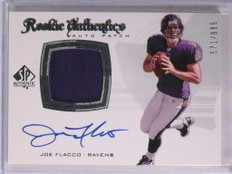 2008 Sp Authentic Joe Flacco autograph auto patch rc rookie #D571/999 #295 *5515