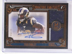 2015 Topps Museum Collection Todd Gurley autograph rc dual jersey #D11/50 *53410