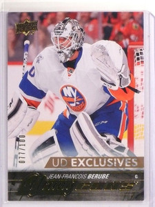 2015-16 Upper Deck Young Guns Jean-Francois Berube Exclusives rc #D77/100 *53645