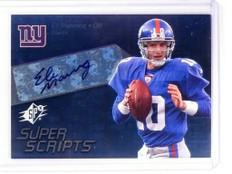 2008 Spx Super Scripts Eli Manning autograph auto #SSS25 *52474