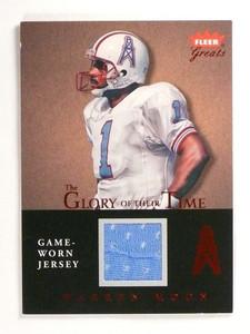 2004 Fleer Greats Glory Of Their Time Warren Moon jersey #GT-WM *50121