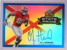 2017 Leaf Metal Draft Blue State Pride O.J. Howard autograph rc #D30/35 *67528