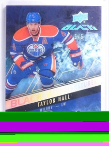 2015-16 Upper Deck UD Black Ice Spectrum Taylor Hall autograph auto #D5/5 *57880