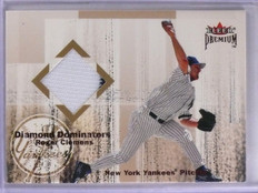 2001 Fleer Premium Diamond Dominators Roger Clemens Jersey *66303