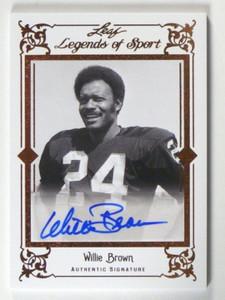 2012 Leaf Legends of Sport Willie Brown auto autograph #BA-WB2 *40238