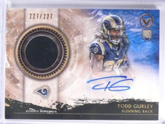 2015 Topps Valor Todd Gurley autograph auto jersey rc rookie #D227/227 *57829