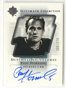 2004 Ultimate Collection Signatures Paul Hornung auto autograph #D209/275 *39494