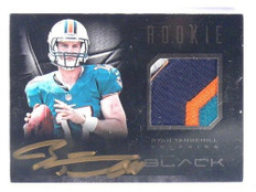 2012 Panini Black Ryan Tannehill auto autograph rc rookie 3clr patch #D01/25 *40