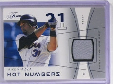 2004 Flair Hot Numbers Blue Mike Piazza Jersey #D136/250 #HNMIP *66295