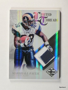 2012 Panini Limited Threads Marshall Faulk 2clr patch #D47/49 #59 *43732