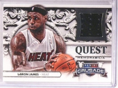 2013-14 Panini Crusade Quest  Lebron James jersey #D12/99 #51 *67477