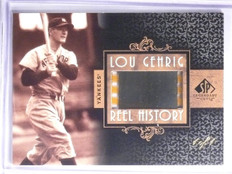 2007 Sp Legendary Cuts Reel History Lou Gehrig Slide Film #D 1/1  *58368