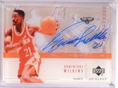 2002-03 Upper Deck UD Glass Auto Focus Dominique Wilkins autograph *67515