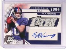 2006 Topps Draft DPP First & Ten Eli Mannning autograph auto #d37/50 *52460