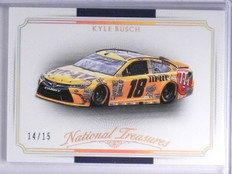 2016 Panini National Treasures Gold Kyle Busch  Car #D14/15 #31 *65457
