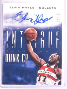 2013-14 Panini Intrigue Dunk Company Elvin Hayes autograph auto #D03/15 *67486