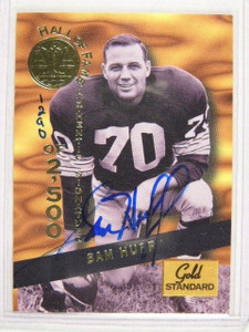 1994 Signature Rookies Gold Standard Sam Huff auto autograph #d1290/2500 *24388