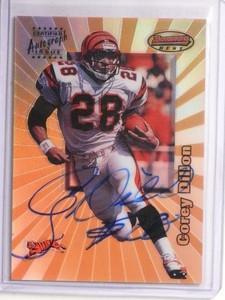 1998 Bowman's Best Refractor Corey Dillon autograph auto #3A *55804