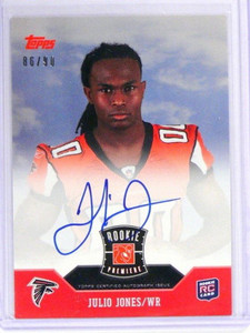 2011 Topps Rookie Premiere Julio Jones auto autograph rc rookie #D86/90 *40496