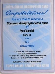 2015 Topps Diamond Ryan Tanneill autograph auto patch #DAPC-RT *55203