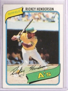 1980 Topps Rickey Henderson rc rookie #482 EX *67548