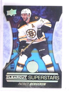 2015-16 Upper Deck Series 1 Patrice Bergeron Clearcut Superstars #CCS4 *54388