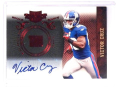 2010 Paini Plates & Patches Victor Cruz autograph auto rc #D142/249 #199 *52498