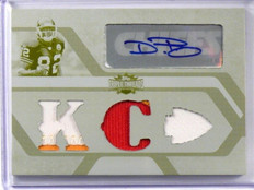 2008 Topps Triple Threads Dwayne Bowe auto autograph 3clr patch #D 1/1 *39081